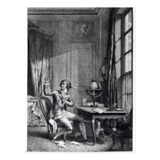 St. Preux Receiving the Portrait of Julie, Postcard