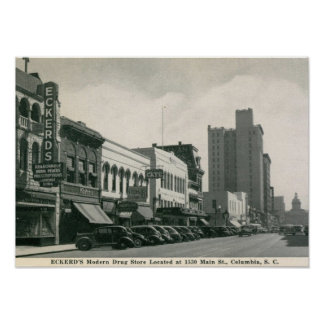 St. principal, Columbia, vintage del SC Posters