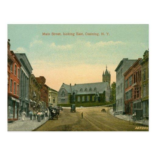 St. principal, Ossining, vintage de NY Postal