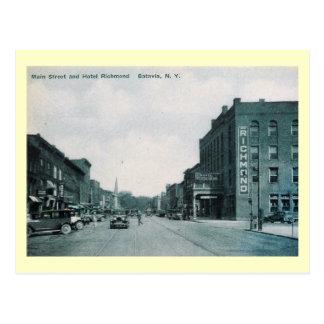 St. principal, vintage de Batavia, Nueva York Tarjetas Postales