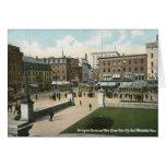 St. principal, Worcester, vintage 1910 del mA Felicitaciones