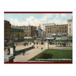 St. principal, Worcester, vintage 1910 del mA Postales