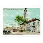 St. principal, Worcester, vintage del mA Tarjeta Postal