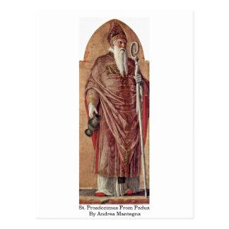 St. Prosdozimus de Padua de Andrea Mantegna Tarjeta Postal