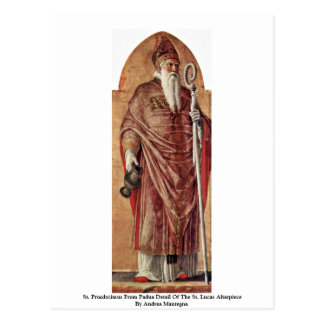 St. Prosdozimus del detalle de Padua del St. Lucas Postal