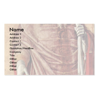 St. Prosdozimus From Padua Detail Of The St. Lucas Double-Sided Standard Business Cards (Pack Of 100)