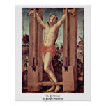 St. Quintinus By Jacopo Pontormo Poster