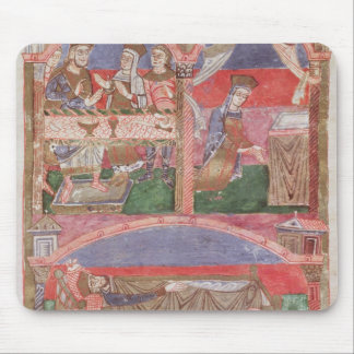 St. Radegund  at the table of Clothar I Mouse Pad