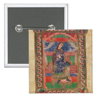 St. Radegund en un trono Pin Cuadrada 5 Cm