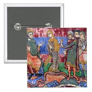 St. Radegund led before Clothar I 2 Inch Square Button