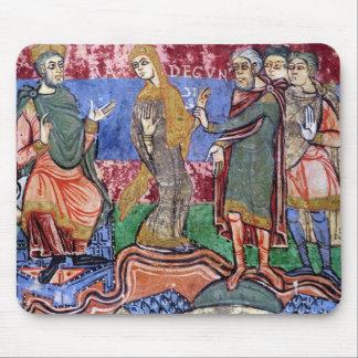 St. Radegund led before Clothar I Mouse Pad