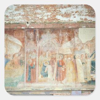 St Rainiero en la Tierra Santa, mediados del siglo Pegatina Cuadrada