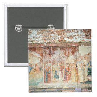 St Rainiero en la Tierra Santa, mediados del siglo Pin Cuadrada 5 Cm
