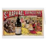 St. Raphael Quinquina Vintage Wine Ad Art Greeting Card