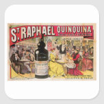 St. Raphael Quinquina Vintage Wine Ad Art Sticker