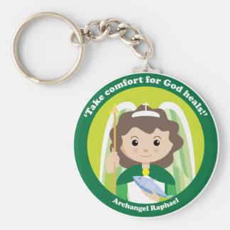 St. Raphael the Archangel Basic Round Button Keychain