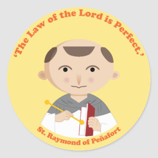 St. Raymond de Peñafort Etiquetas Redondas