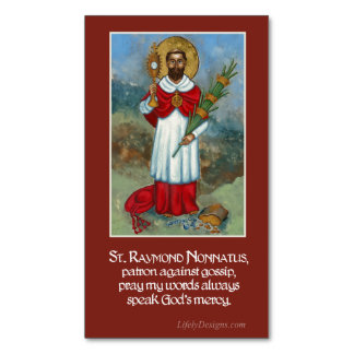St. Raymond Nonnatus Prayer Magnets (25 pack)