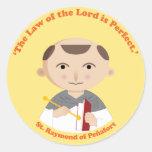 St. Raymond of Peñafort Round Stickers