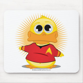 ST Red Shirt Duck Mouse Pad