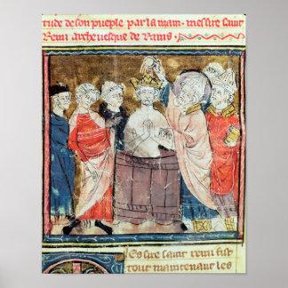 St. Remigius, Bishop of Rheims  baptising Poster