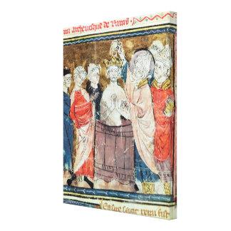 St. Remigius, obispo del bautismo de Reims Impresiones En Lona