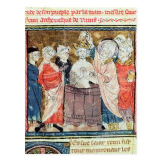 St. Remigius, obispo del bautismo de Reims Postal
