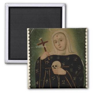 St. Rita de Casia 2 Inch Square Magnet