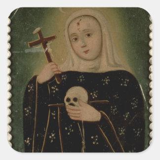 St Rita de Casia Colcomanias Cuadradas Personalizadas