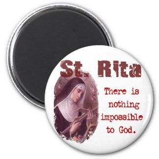 St. Rita 2 Inch Round Magnet