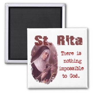 St. Rita 2 Inch Square Magnet