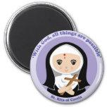 St. Rita of Cascia 2 Inch Round Magnet