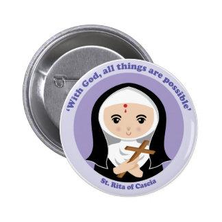 St. Rita of Cascia Pinback Buttons