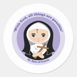St. Rita of Cascia Classic Round Sticker
