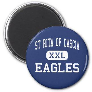 St Rita Of Cascia - Eagles - High - Chicago 2 Inch Round Magnet