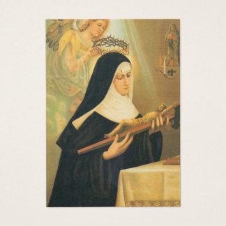 St. Rita of Cascia w/Crown of Thorns Angel Business Card