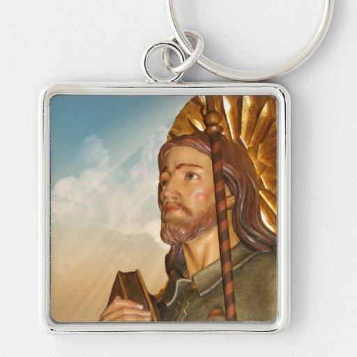 St. Rocco - San Rocco - St. Roch Silver Keychain