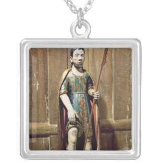 St. Rocco Silver Plated Necklace