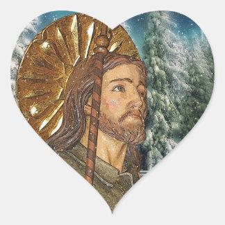 St.Rocco - St. Roch - pegatinas del corazón de San Pegatina En Forma De Corazón