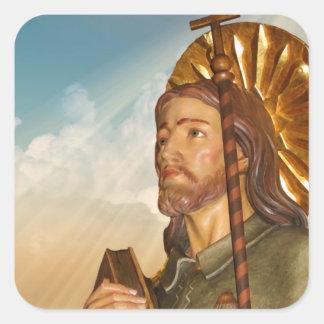 St.Rocco - St. Roch - San Rocco irradia a los Pegatina Cuadrada