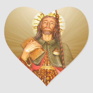 St.Rocco - St. Roch - San Rocco irradia a los Pegatina En Forma De Corazón