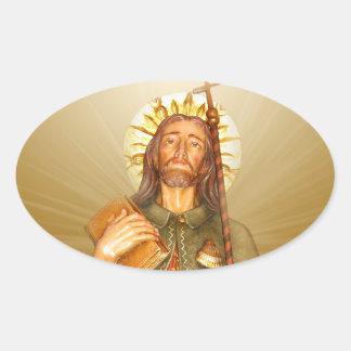 St.Rocco - St. Roch - San Rocco irradia a los Pegatina Ovalada
