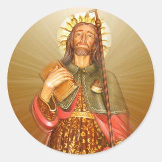 St.Rocco - St. Roch - San Rocco irradia a los Pegatina Redonda