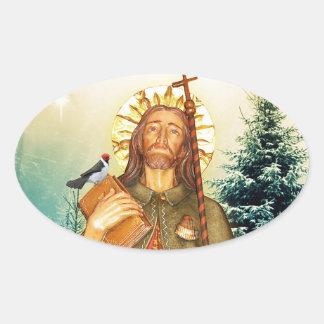St.Rocco - St. Roch - San Rocco Oval Stickers