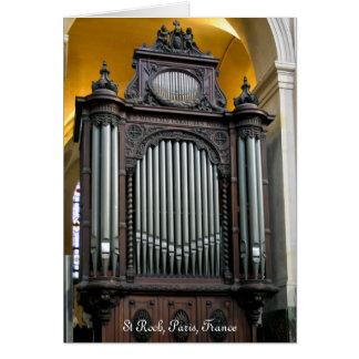 St Roch choir organ Card