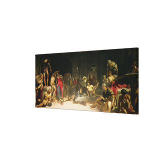 St. Roch Curing the Plague Stretched Canvas Print