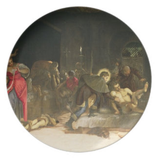 St. Roch Curing the Plague Dinner Plate