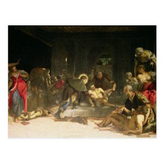 St. Roch Curing the Plague Postcard