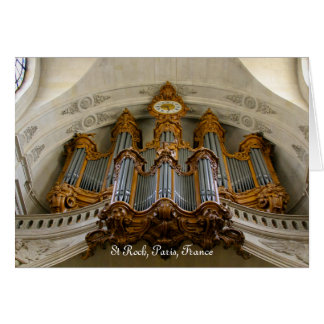 St Roch pipe organ Card
