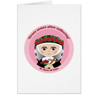 St. Rose of Lima Greeting Card